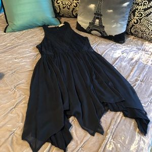 Abercrombie Handkerchief Dress With Sheer Sides